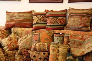 Cojines hecha de Kilims