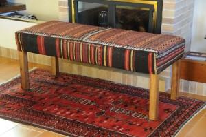 Tapizado con kilim persa antigua